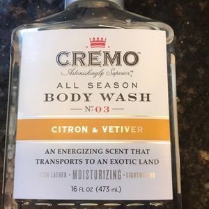 Brand New Never Opened Cremo All Season Body Wash